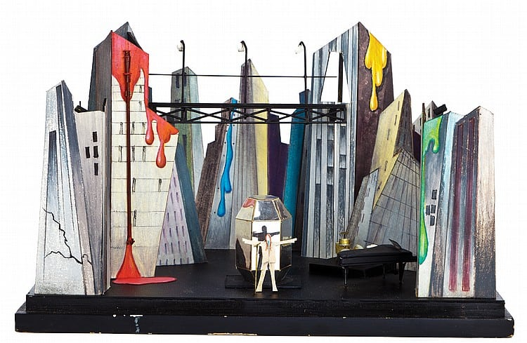 The set design model for David Bowie's Diamond Dogs tour. Photo: courtesy the Victoria & Albert Museum.