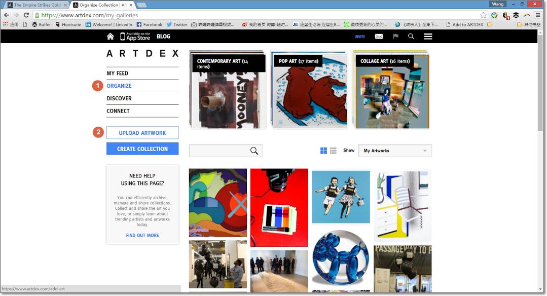 ARTDEX Add to Art Bookmarklet