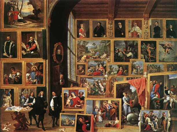 The Art Collection of Archduke Leopold Wilhelm in Brussels, David Teniers the Younger, 1640, Oil on canvas, 96 x 128 cm, Kunsthistorisches Museum, Vienna