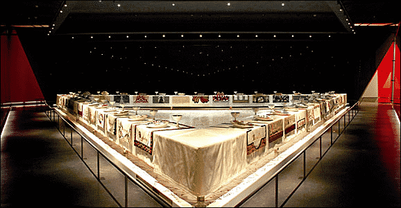 Judy Chicago's The Dinner Party at the Brooklyn Museum
