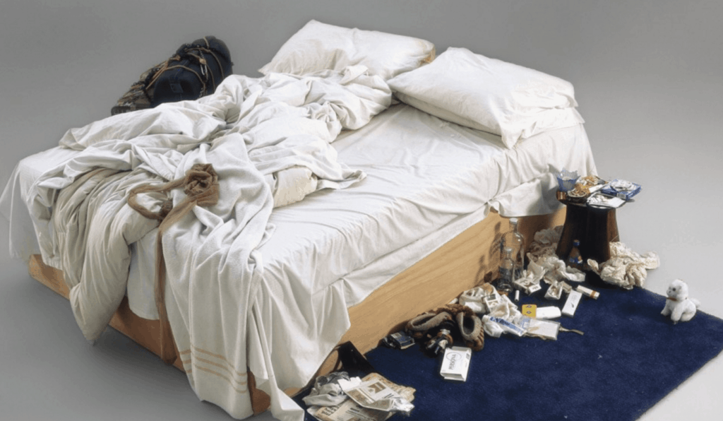 """Tracey Emin artwork """"My Bed"""" (1998)"""