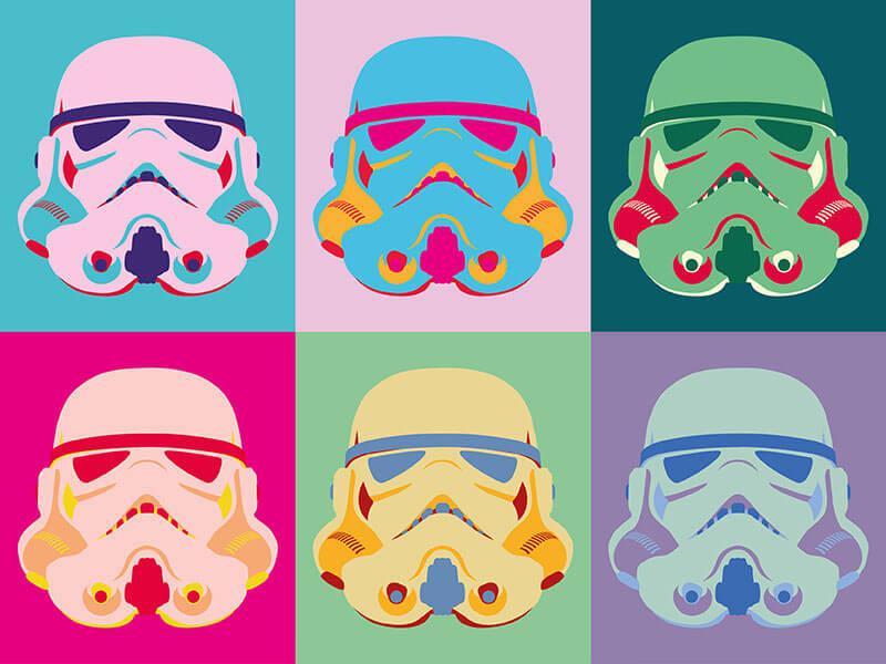 Warhol Stormtrooper by Tom Mclean. Oct 1, 2015.