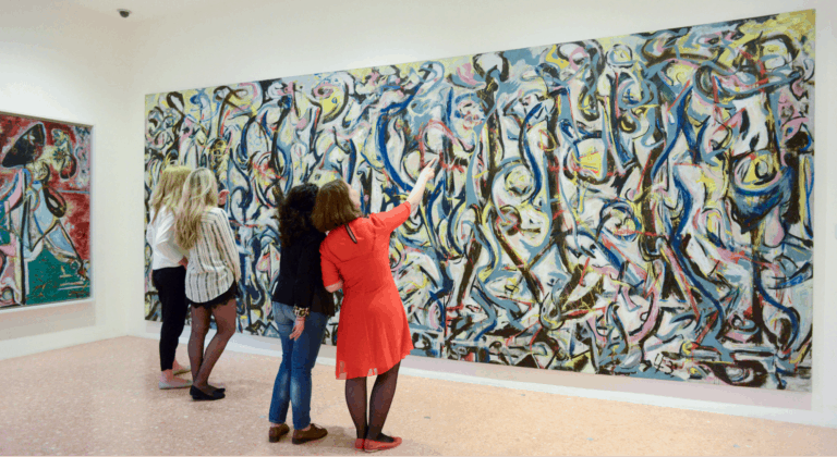 "Jackson Pollock's ""Mural"" on display at the Peggy Guggenheim Collection in Venice"