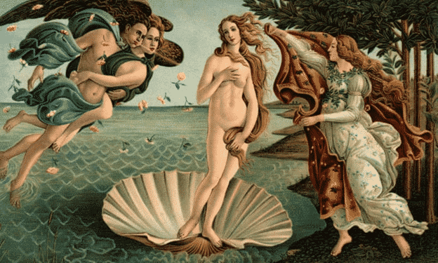The Birth of Venus by Botticelli (1486)