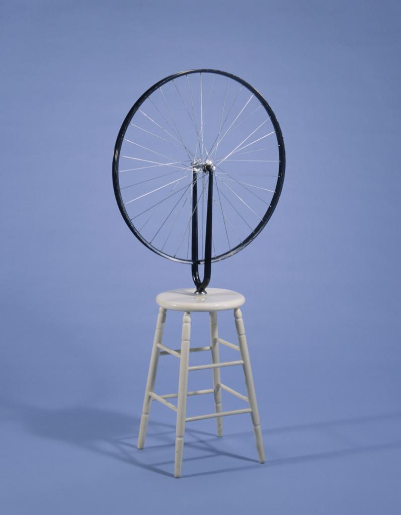 "Marcel Duchamp Bicycle Wheel 1964 replica of 1913 original ""Readymade""  Image source httpopenfileblog.blogspot.com"